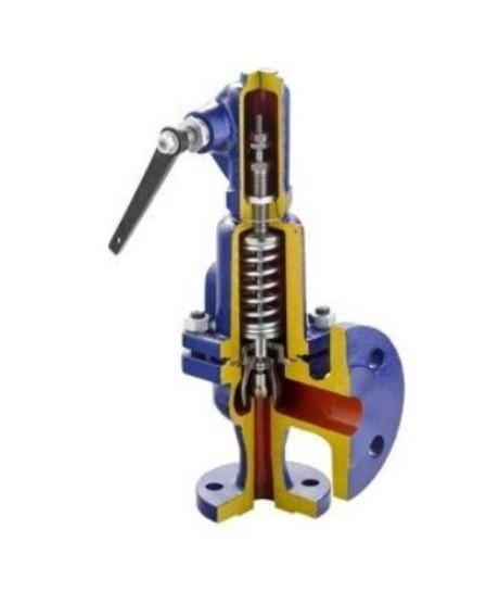 Клапан предохранительный угловой пружинный, Рр = 0,8 МПа