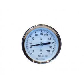 Термометр биметаллический осевой ТБ 63-50 (0...+ 120 °С)