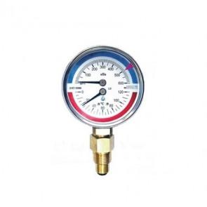 Манометр с термометром радиальный (термоманометр) (400 кПа - 1,6 МПа)