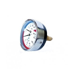 Манометр с термометром осевой (термоманометр) (400 кПа - 1,6 МПа)