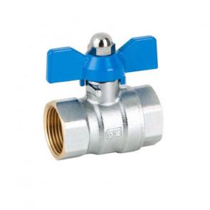 Кран шаровый резьбовой для воды GENEBRE DN15-DN25 (вн-вн)