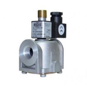 Клапан электромагнитный газовый муфтовый MADAS M16/ RMC N.A. DN 15-DN 25 (ручной взвод), 6 бар