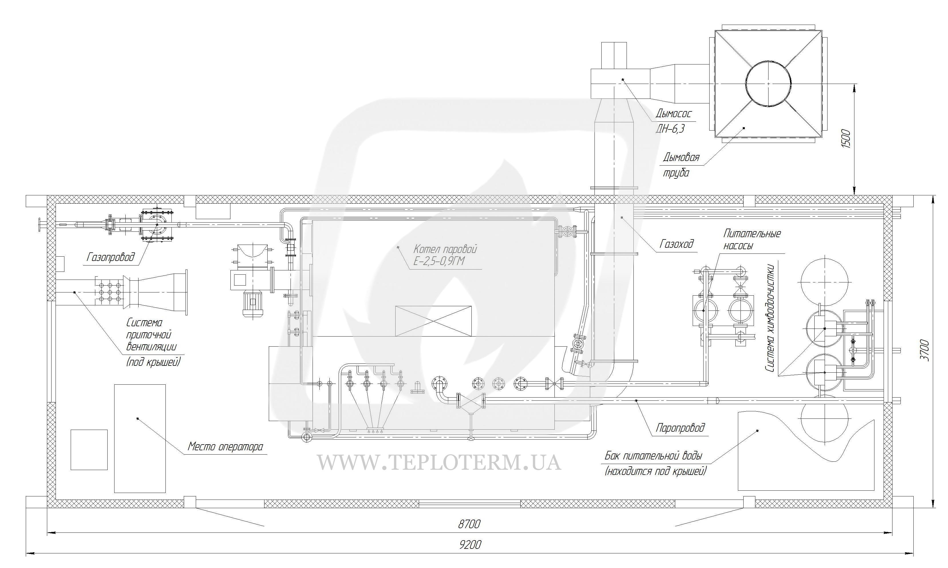 опросный лист паровая котельная газовик